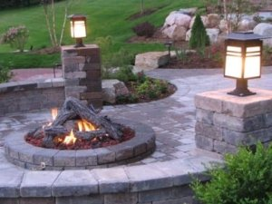 Custom Fire pit expert stone masons firepit Barnum colorado high quality workmanship reasonable low price reliable crew