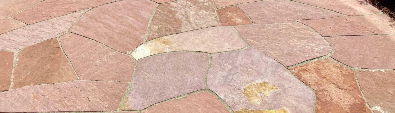 Custom flagstone patio Denver Colorado