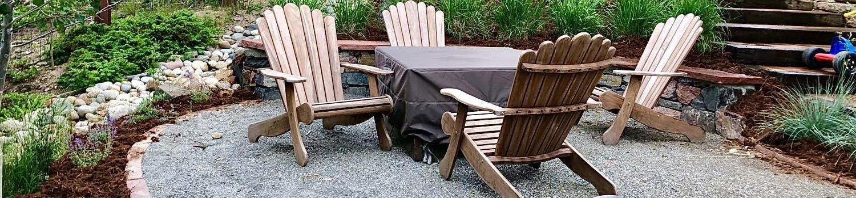 professionally installed custom rock patio Parker colorado