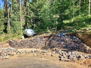 Rocky Mountain retaining wall Evergreen Colorado