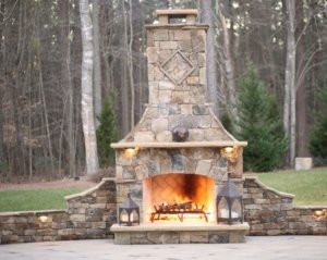 custom stone oudoor fireplace capitol hill co