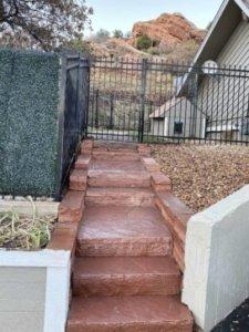 custom stone staircase Conifer