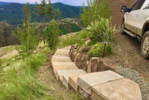 custom stone walkways Evergreen