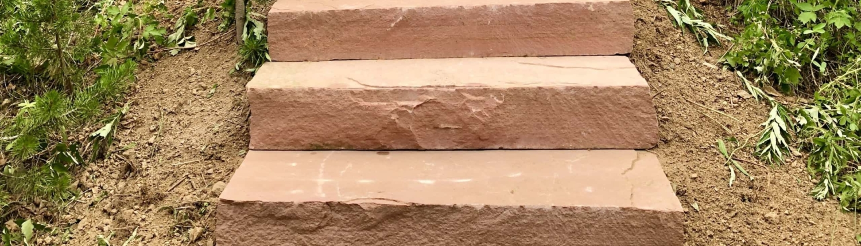 natural stone custom steps Parkhill Colorado