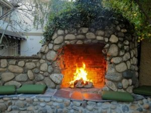 outdoor kitchen and fireplace denver