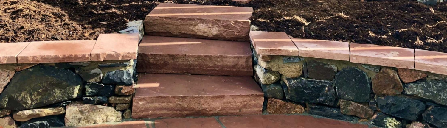 retaining wall and stone steps Littleton Colorado