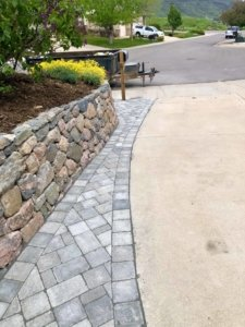 stone work driveway and retaining wall Boulder Colorado